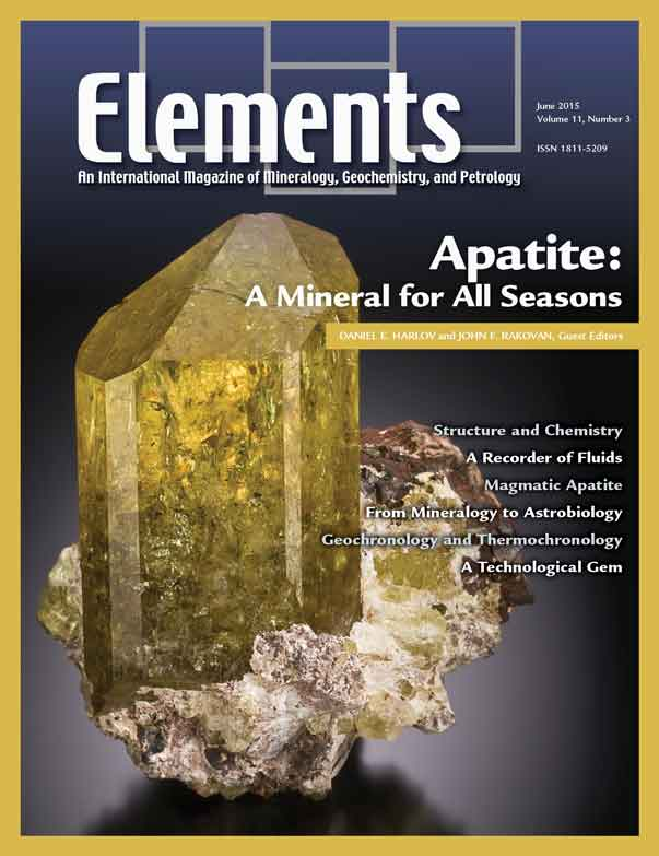 Apatite - June 2015 Elements Magazine Cover
