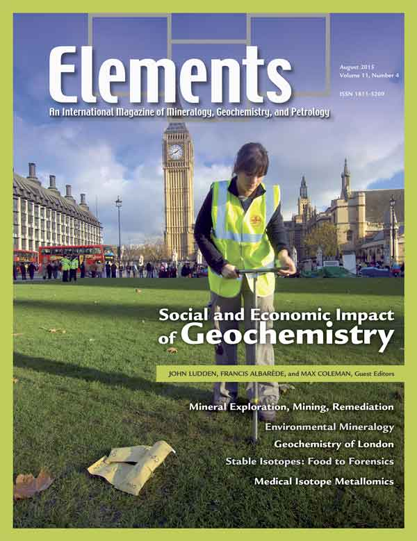 Impacts of Geochemistry Elements Magazine Cover
